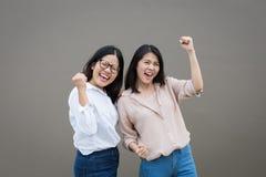 Succès asiatique de femmes Photos stock