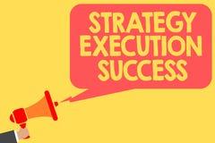 Succès d'exécution de stratégie des textes d'écriture Signification de concept mettant le plan ou la liste et début la faisant pa illustration stock