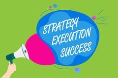 Succès d'exécution de stratégie des textes d'écriture Signification de concept mettant le plan ou la liste et début la faisant ho illustration de vecteur