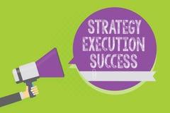 Succès d'exécution de stratégie des textes d'écriture de Word Concept d'affaires pour mettre le plan ou la liste et début la fais illustration libre de droits