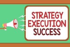 Succès d'exécution de stratégie des textes d'écriture de Word Concept d'affaires pour mettre le plan ou la liste et début la fais illustration de vecteur
