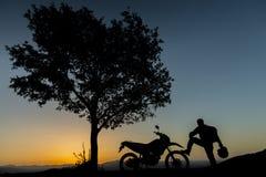Succès de cible avec la moto Image libre de droits