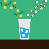 Succès de cocktail Photographie stock libre de droits