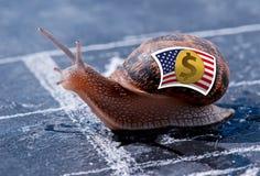 Succès de métaphore de la devise américaine du dollar Images libres de droits