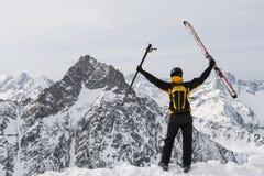 Succès de skieur Photos libres de droits