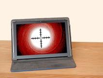 Succès en ligne de mission d'affaires de cible d'Internet Photographie stock libre de droits