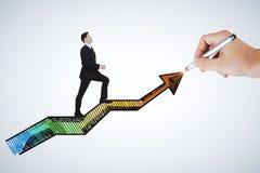 Succès et concept financier de croissance Image stock