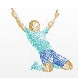 Succès, finition, gagnant, athlète, abstraction illustration libre de droits