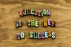 Succès principal d'éducation de préparation de la connaissance image stock