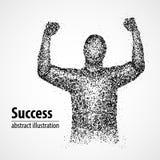 Succès, victoire, résumé, chance, gagnant Images stock