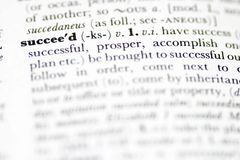 Succeed. Dictionary definition of succeed Royalty Free Stock Photos