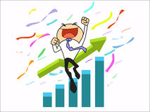 Succeed businessman Stock Images
