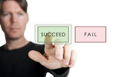 Succeed or fail Royalty Free Stock Photo