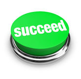 Succeed - Green Button Stock Image