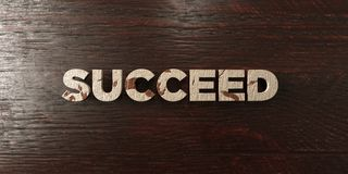 Succeed - grungy wooden headline on Maple - 3D rendered royalty free stock image. This image can be used for an online website banner ad or a print postcard vector illustration