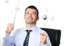 succes бизнесмена стоковое изображение