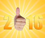 Succes 2016 Royalty-vrije Stock Foto's