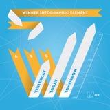 Succes in bedrijfs informatie-Grafisch malplaatje. royalty-vrije illustratie