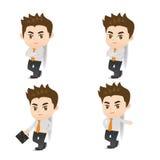Succes Bedrijfs magere mens iets Royalty-vrije Stock Afbeelding