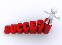 Succes in bedrijfsconcept Stock Illustratie
