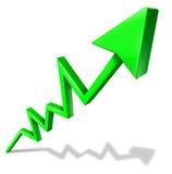 Succes in bedrijfsgrafiek Stock Afbeeldingen