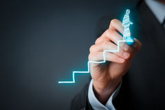 Succes in carrière Stock Foto