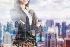 Succes, carrière en ambitieconcept stock illustratie