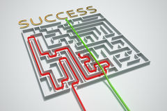 Succes cheated maze. Royalty Free Stock Image