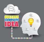 Succes complete idea. Royalty Free Stock Images