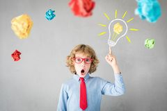 Succes, creatieve en ideeconcept royalty-vrije stock foto's