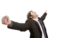 Succes d'affaires et concept de victoire Photographie stock libre de droits
