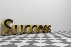 Succes die teruggegeven illustratie verwoorden Royalty-vrije Stock Fotografie