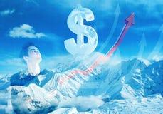 Succes en de Financiële Groei Royalty-vrije Stock Afbeeldingen