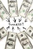 Succes en geld Royalty-vrije Stock Afbeeldingen