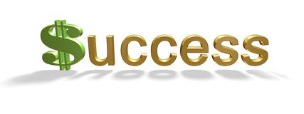 Succes en geld stock afbeeldingen