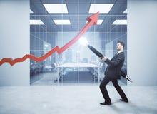 Succes en groeiend inkomensconcept Stock Afbeeldingen