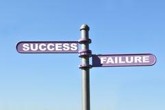 Succes en mislukking Stock Afbeelding