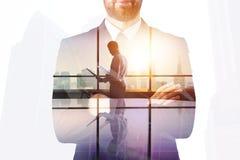 Succes en uitvoerend concept royalty-vrije stock afbeeldingen