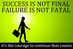 Succes failure courage Stock Photos