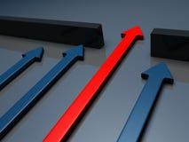 Succes - frecce Fotografia Stock Libera da Diritti