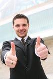 Succes het bedrijfs van de Mens Royalty-vrije Stock Afbeelding