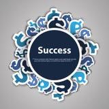 Succes - het Ontwerpconcept van Dollartekens Royalty-vrije Stock Foto's