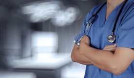 Succes het slimme medische arts werken Royalty-vrije Stock Foto