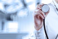 Succes het slimme medische arts werken Stock Afbeelding