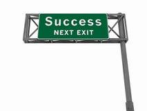 Succes - het Teken van de Snelweg Royalty-vrije Illustratie