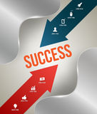 Succes with icons Royalty Free Stock Photos