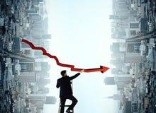Succes, leiding en financieel de groeiconcept stock foto's