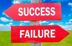 Succes of mislukking Stock Afbeeldingen