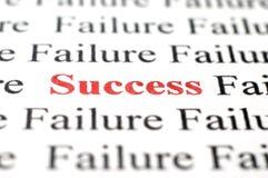 Succes onder mislukking stock fotografie