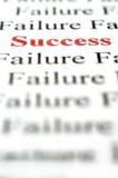 Succes onder mislukking Royalty-vrije Stock Fotografie